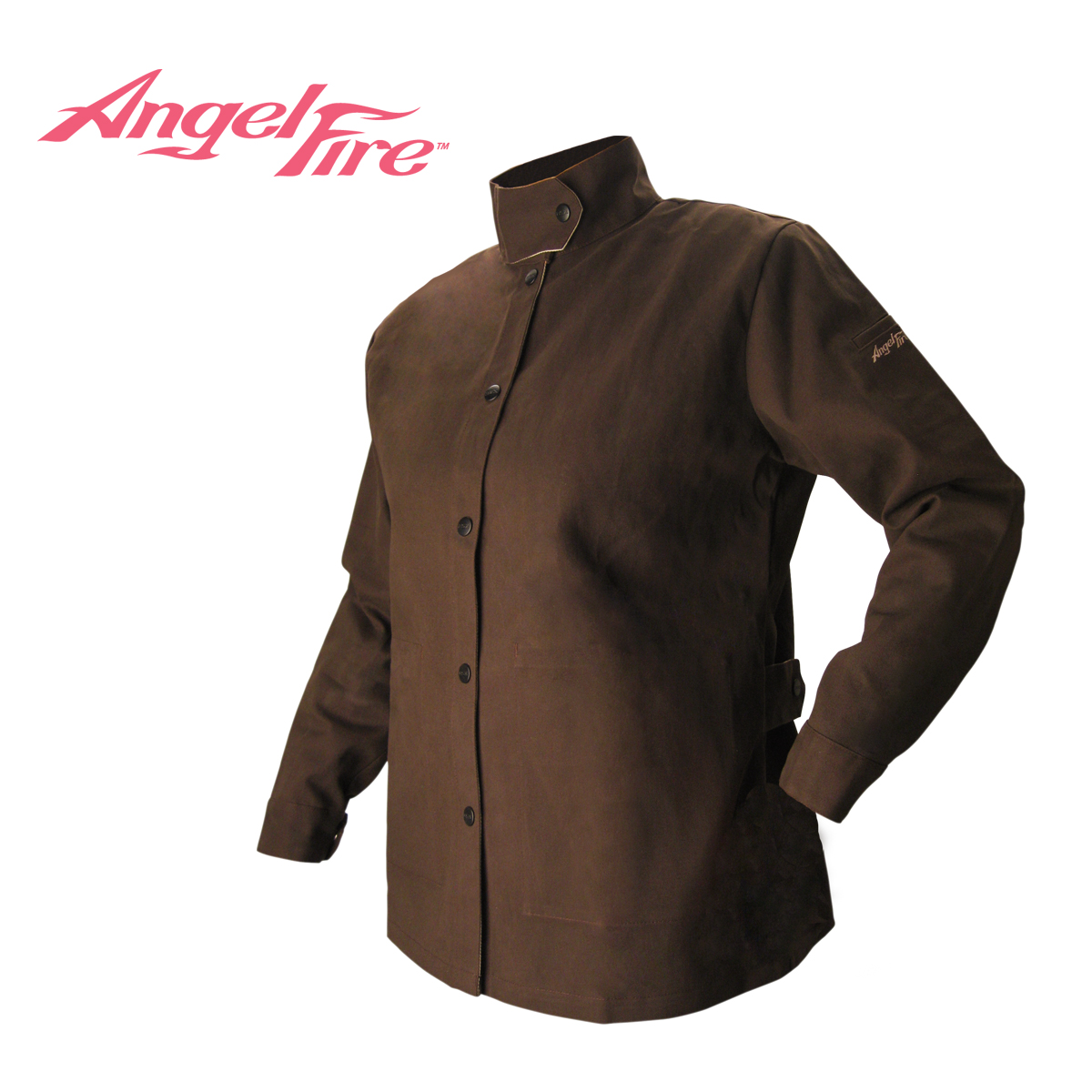Size Medium Revco BSX AngelFire Womens Flame-Resistant Welding Jacket Chocolate