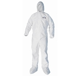 KLEENGUARD* A40 Liquid & Particle Protection Coveralls w/Zipper Front, Elastic Wrists,  Ankles, Hood & Boots--CASE OF: 25 EA